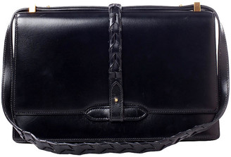One Kings Lane Vintage Hermes Black Box Shoulder Bag - Vintage Lux