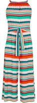 River Island Girls Red geo stripe sleeveless jumpsuit
