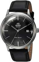 Orient Men's '2nd Gen. Bambino Ver. 3' Japanese Automatic Stainless Steel and Leather Dress Watch, Color: (Model: FAC0000DB0)