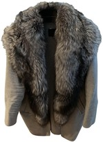 Hotel Particulier Anthracite Fox Coat for Women