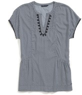 Tommy Hilfiger Final Sale- Diamond Printed Top With Trim