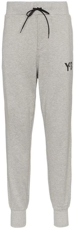 Y-3 logo printed cotton sweatpants