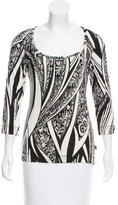Just Cavalli Patterned Long Sleeve Top w/ Tags
