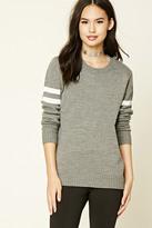 Forever 21 FOREVER 21+ Varsity Stripe Sweater