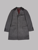 Autograph Collared Neck Coat with Wool (3-14 Years)