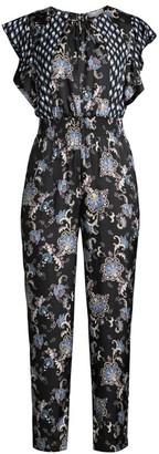 Rebecca Taylor Sleeveless Paisley Silk-Blend Jumpsuit