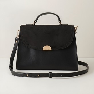 Love & Lore Love And Lore Spencer Flap Satchel Black