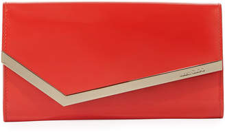 Jimmy Choo Emmie Patent Leather Clutch Bag, Red