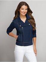 New York & Co. Love NY&C Collection - Denim Moto Jacket