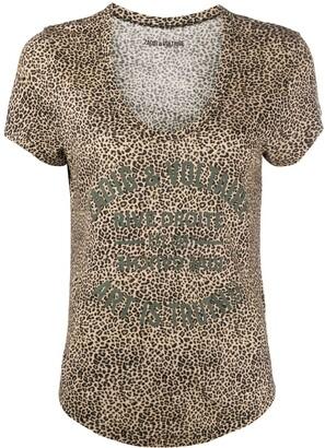 Zadig & Voltaire Aretha leopard-print T-shirt