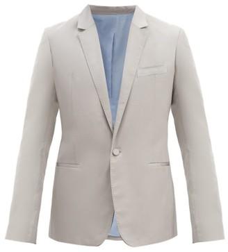 Haider Ackermann Single-breasted Silk-blend Jacket And Cummerbund - Grey