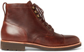 J.Crew Kenton Cap-Toe Leather Boots