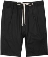Rick Owens Basket Swingers Black Cotton Shorts