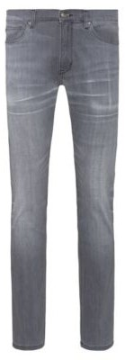 HUGO BOSS Extra-slim fit jeans in mid-grey comfort-stretch denim