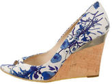 Gucci Flora Peep-Toe Wedges
