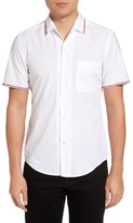 BOSS Men's Rino Stripe Detail Sport Shirt