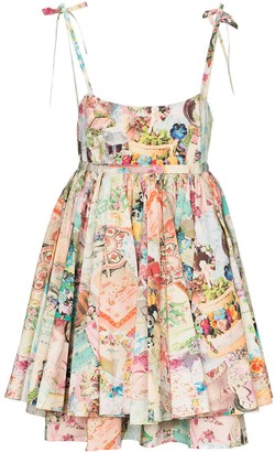Marc Jacobs Babydoll cake print dress