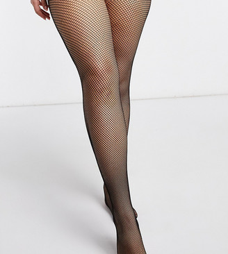 ASOS DESIGN Curve fishnet tights in black