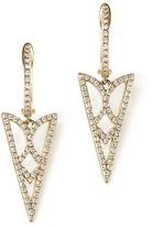 KC Designs Diamond Geometric Drop Earrings in 14K Yellow Gold, .40 ct. t.w. - 100% Exclusive