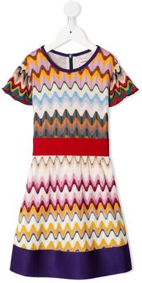 Missoni Kids Wave-Print Midi Dress