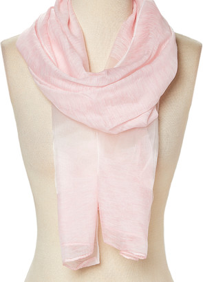 Italmode Women's Accent Scarves PINK - Pink Sheer-Accent Scarf - Women