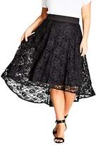 City Chic Plus Size Women's Lush Lace High/low Skirt