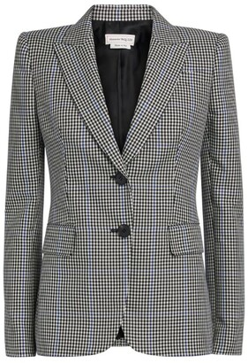 Alexander McQueen Gingham Single-Breasted Jacket