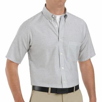 Red Kap Men's Standard Executive Oxford Dress Shirt Short Sleeve