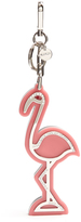 Miu Miu Glitter-back crystal-embellished flamingo key ring