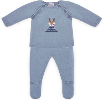 Paz Rodriguez Reindeer Knitted Sweater and Leggings Set (1-12 Months)