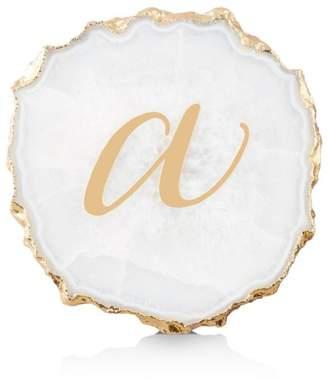 Monogrammed Agate Coaster