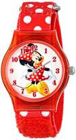 Disney Kids' W001250 Tween Minnie Mouse Plastic Watch, Analog Display, Analog Quartz, Watch