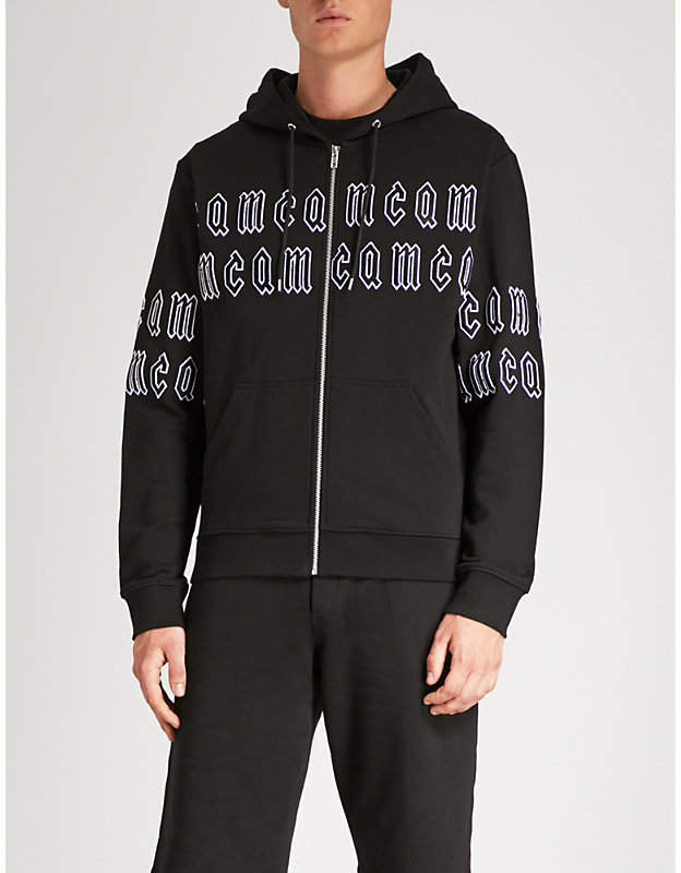 McQ Logo-embroidered cotton-jersey hoody