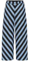 Missoni Knitted wide-leg cropped trousers