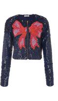 Manoush Sequin Cropped Jacket