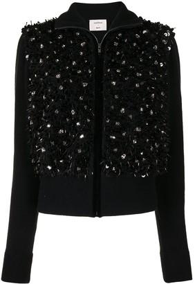 Onefifteen Crystal-Embellished Wool Zip-Up Jacket