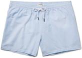 Club Monaco Arlen Slim-Fit Mid-Length Seersucker Swim Shorts