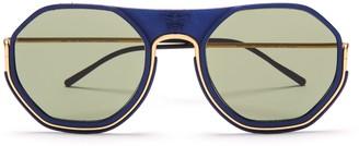 Wires Glasses Sting - Gold/Lunar Blue/Green
