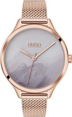 HUGO Smash Mesh Strap Watch, 36mm