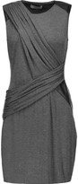 Bailey 44 Faux leather-trimmed stretch-jersey mini dress
