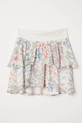 H&M MAMA Patterned flounced skirt