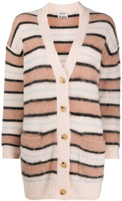 Acne Studios Oversized Striped Cardigan