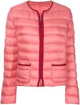 Moncler Cristal collarless shell jacket