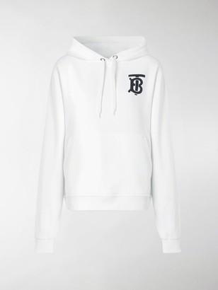 Burberry Monogram Motif Hooded Sweatshirt