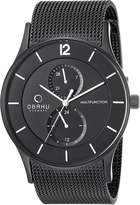 Obaku Men's V157GMBBMB Analog Display Analog Quartz Watch