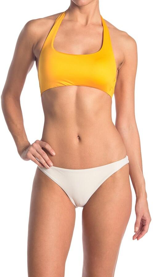 Becca Solid Halter Tie Back Bikini Top