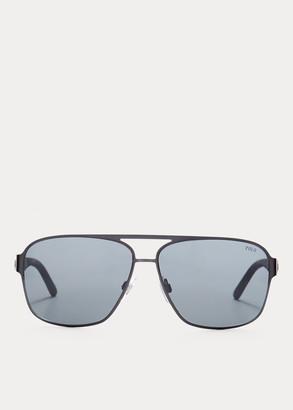 Ralph Lauren Rubber Navigator Sunglasses