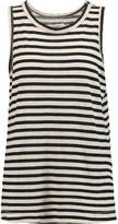 Current/Elliott The Muscle striped cotton and linen-blend T-shirt