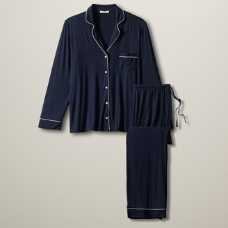 Love & Lore Love And Lore Piped Pj Set Navy Medium