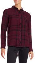 Calvin Klein Jeans Plaid Hi-Lo Shirt